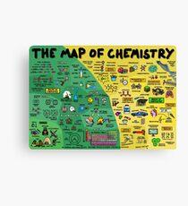 Die Karte der Chemie Leinwanddruck