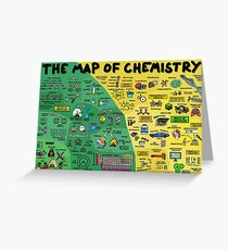 The Map of Chemistry Greeting Card