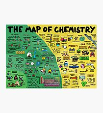 The Map of Chemistry Photographic Print