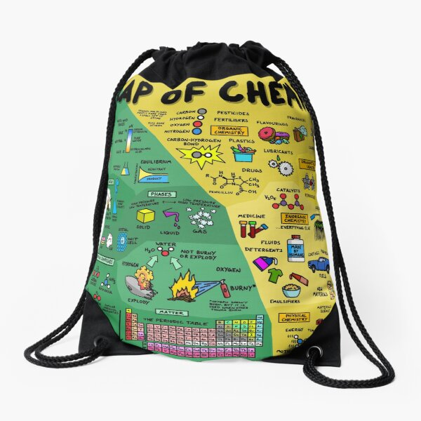 The Map of Chemistry Drawstring Bag