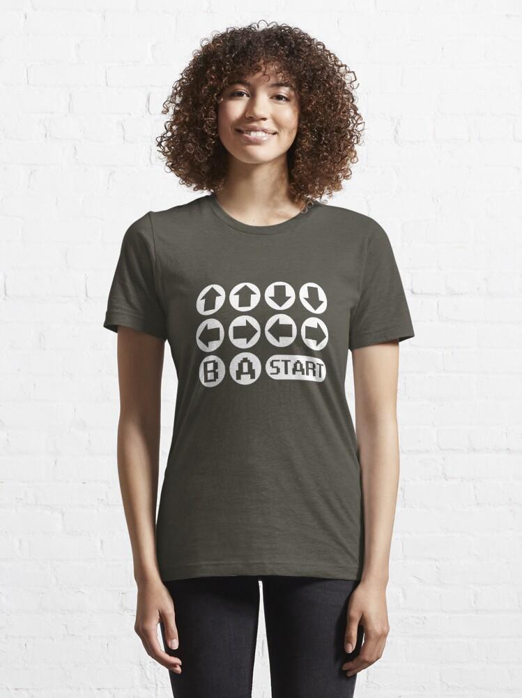 Alternate view of The Konami Code Essential T-Shirt