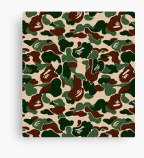 Bape Ape Camo Canvas Print