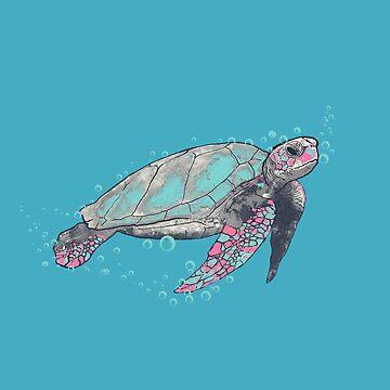 sea turtle by martinskowsky