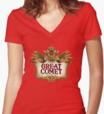 Great Comet of 1812 Women's Fitted V-Neck T-Shirt