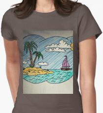 dream of vacation Womens Fitted T-Shirt