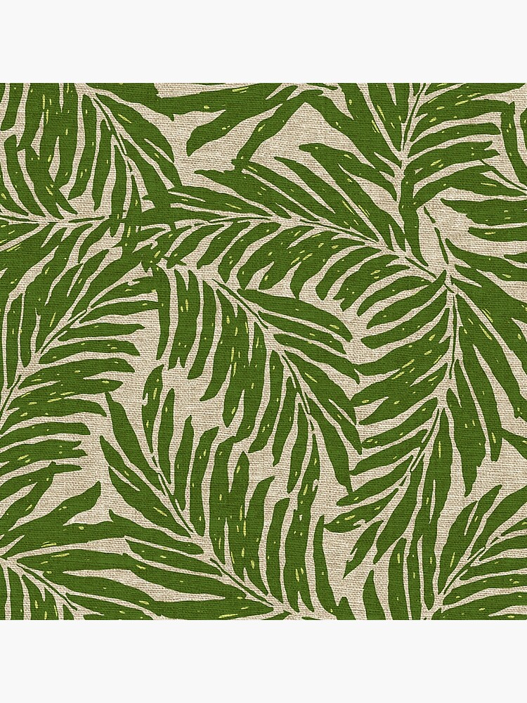 add8836b4e9 Kahanu Palms Hawaiian Linen Texture - Olive Green Photographic Print