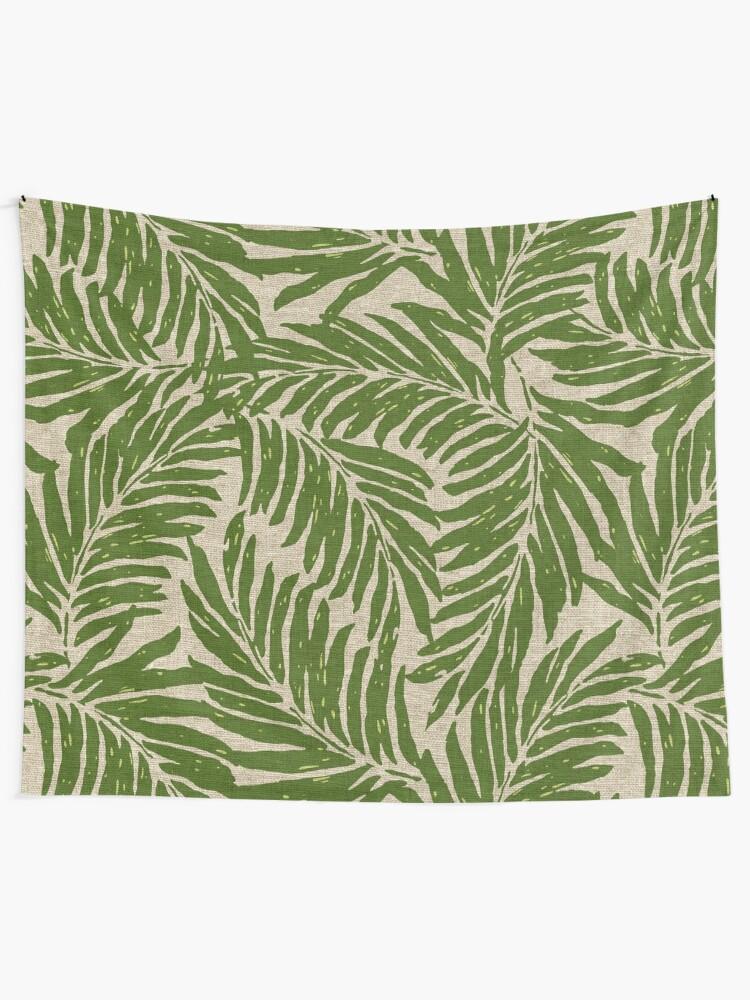 2863b1edb53 Kahanu Palms Hawaiian Linen Texture - Olive Green
