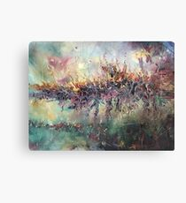 Space Oil Painting Abstract Canvas Print