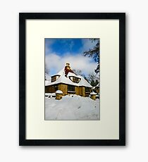 Winter Fairy Tale House Framed Print