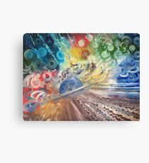 Saturn Painting by Naci Caba Canvas Print