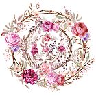 Bouquet of MOST Beautiful Vintage Rose - wreath by casualforyou