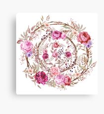 Bouquet of MOST Beautiful Vintage Rose - wreath Canvas Print