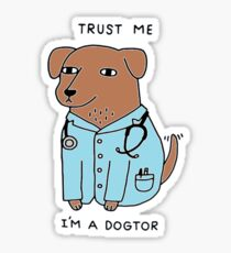 Dogtor Doctor Dog Sticker