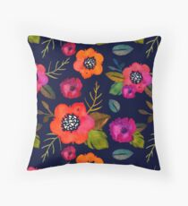 Symphonie de Fleurs Throw Pillow