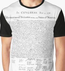 Declaration of Independence - 4th of July Graphic T-Shirt