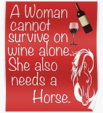 Wine And Horse Design Poster