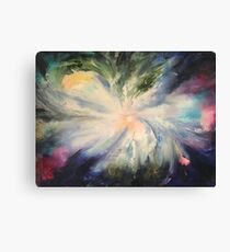 Space oil painting by Naci Caba Canvas Print