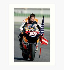 nicky hayden Art Print