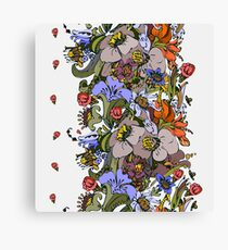 Bright floral ornamental in frieze Canvas Print
