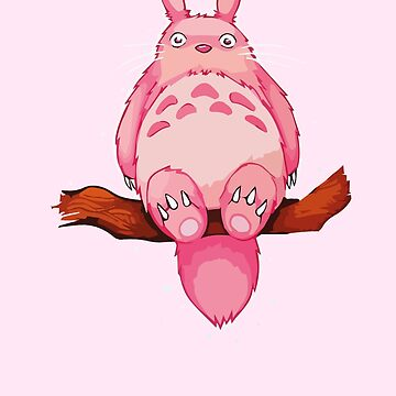 Pink my neighboor Totoro from Studio Ghibli by roespha