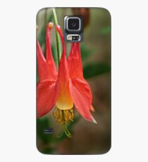 Eastern Red Columbine (Aquilegia canadensis) Case/Skin for Samsung Galaxy