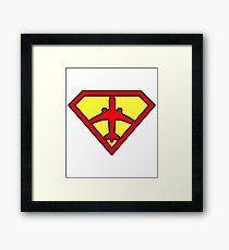 SuperPILOT, Super Hero Pilot Framed Print