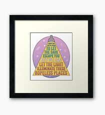 But we can let the light illuminate these hopeless places, Idle Worship, Paramore Framed Print