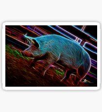 Cochon électrique Sticker