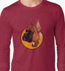 BOXER DOG PORTRAIT  Long Sleeve T-Shirt