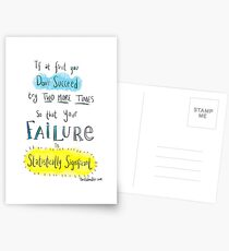 If at first you don't succeed.... THE SCIENCE VERSION. Postcards