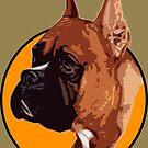 BOXER DOG PORTRAIT  by SofiaYoushi