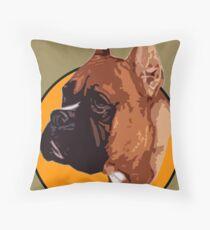 BOXER DOG PORTRAIT  Throw Pillow