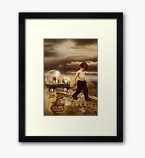 thought  EARTH WAS FLAT Framed Print