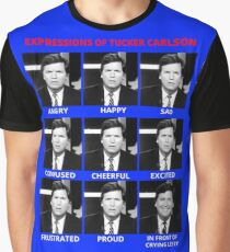 The Expressions of Tucker Carlson Graphic T-Shirt
