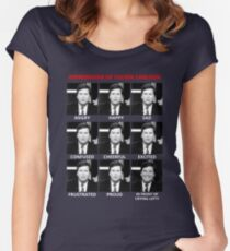 The Expressions of Tucker Carlson Fitted Scoop T-Shirt