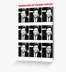 Expressions greeting cards redbubble the expressions of tucker carlson greeting card m4hsunfo