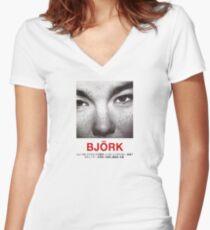 Camiseta entallada de cuello en V Bjork