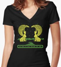 NeverEnding Trail Women's Fitted V-Neck T-Shirt