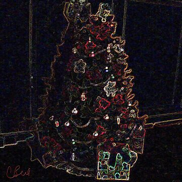 Christmas Tree in the Dark by storecee