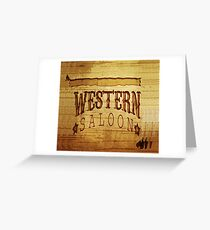 Western Saloon Greeting Card