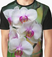 White Orchid Flowers Graphic T-Shirt