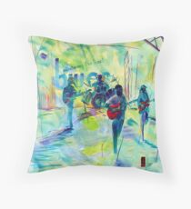 MUSTERING THE BEST bLUES Throw Pillow