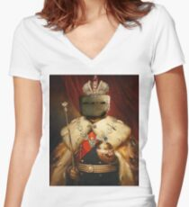 LORD AND SAVIOR, TACHANKA Women's Fitted V-Neck T-Shirt
