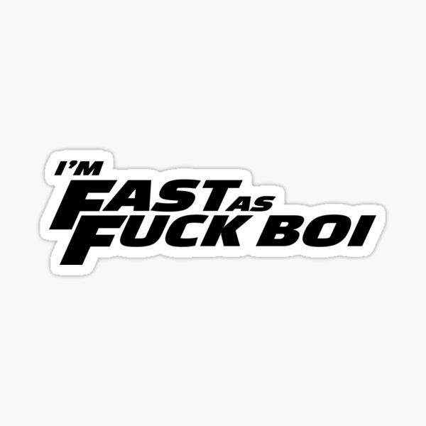 Soy rápido AF BOI Pegatina