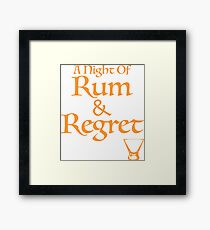 A Night Of Rum and Regret Framed Print
