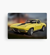 1964 Corvette 'Big Block Stinger' I Canvas Print