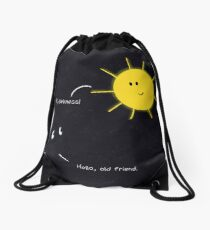 Light and Dark Drawstring Bag
