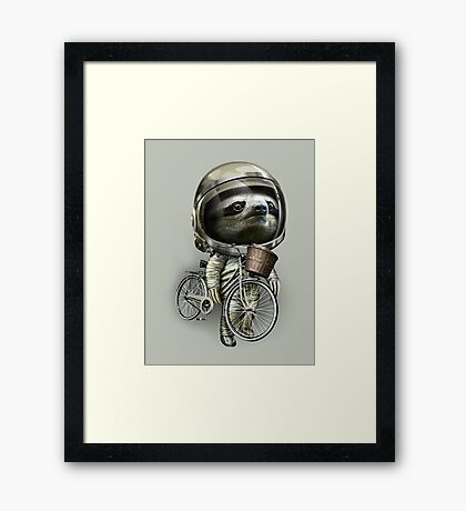 WITH MY BIKE ALONG Framed Print