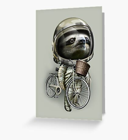 WITH MY BIKE ALONG Greeting Card