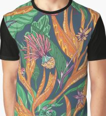 Vector Tropical Floral Pattern Graphic T-Shirt